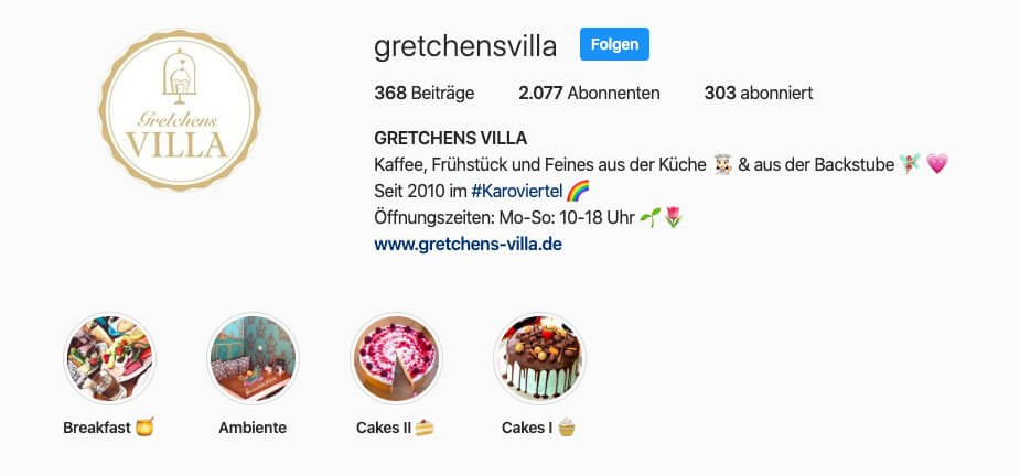Idee 6: Business Instagram Bio