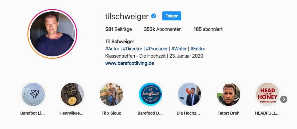 Idee 5: Minimalistische Instagram Bio