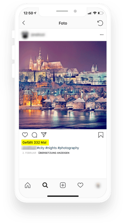 So werden Likes auf Instagram angezeigt