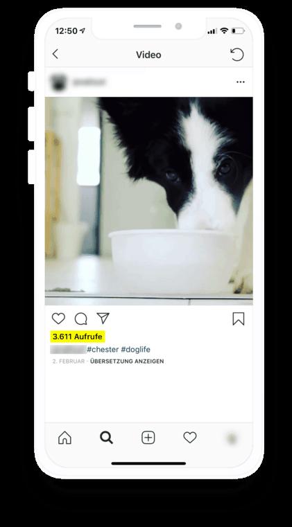 So werden Views auf Instagram angezeigt